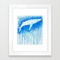 Solitude Whale Framed Art Print