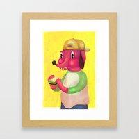 my kind of burger Framed Art Print