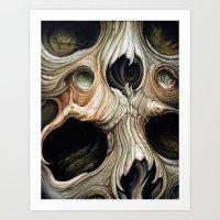 Skull Melt Art Print