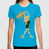 Sinmara Womens Fitted Tee Teal SMALL