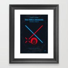 No591 My SW Episode VII minimal movie poster Framed Art Print