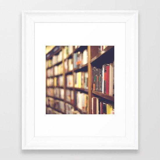 Bookstore Framed Art Print