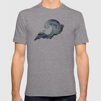 catch a wave Mens Fitted Tee Athletic Grey SMALL