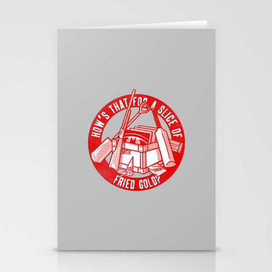 Fried Gold (red on you variant) Stationery Card