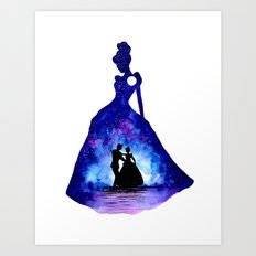 Cinderella Double Exposure - Dancing Art Print