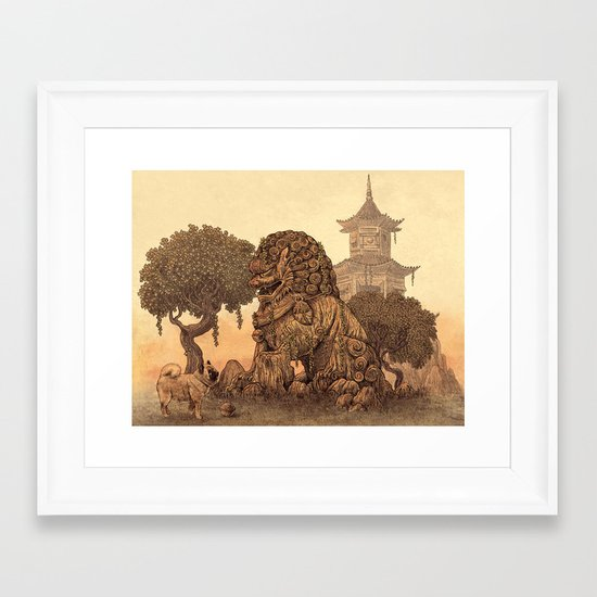 Foo Dogs  Framed Art Print