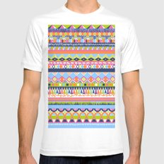 Summer Doodle SMALL White Mens Fitted Tee