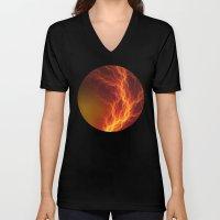 Fire And Lightning Unisex V-Neck