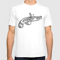 One Shot Derringer, One … Mens Fitted Tee White SMALL