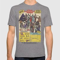Vintage Action Figures Mens Fitted Tee Tri-Grey SMALL