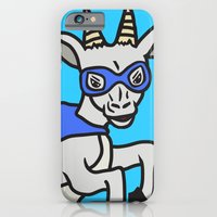 iPhone & iPod Case featuring The Mighty Flash Goat by Flash Goat Industries