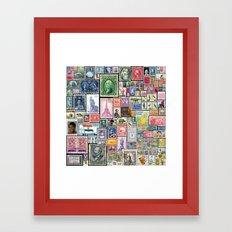 Stamps     Collage Framed Art Print