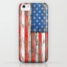 USA Vintage Wood iPhone 5c Slim Case