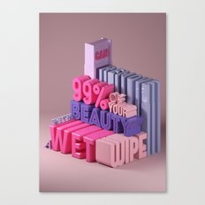 Typographic Insults #2 Canvas Print