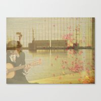 Wandered into a flat dream Canvas Print