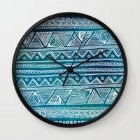 Hippie Pattern Wall Clock