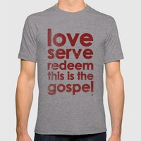 LOVE, SERVE, REDEEM. THI… Mens Fitted Tee Athletic Grey SMALL