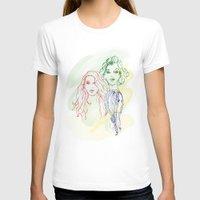 girls T-shirts featuring Girls by Duru Eksioglu