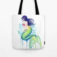 Mermaid Splash Tote Bag