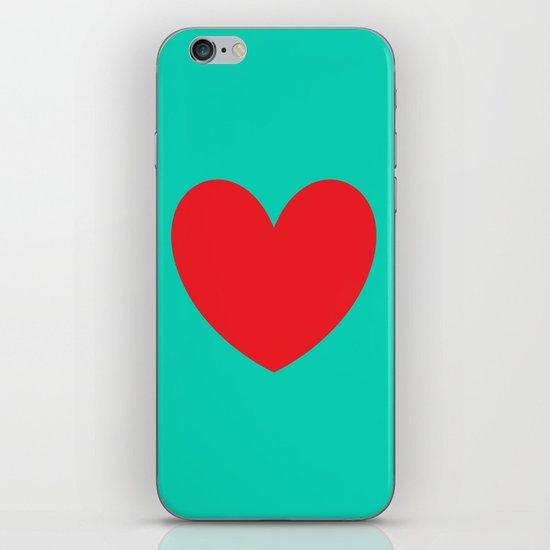 Red heart iPhone & iPod Skin