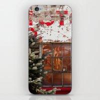 Red+white iPhone & iPod Skin