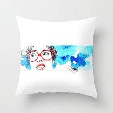 Cara de asco Throw Pillow