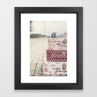 Vintage travel Framed Art Print