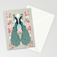 Peacocks by Andrea Lauren  Stationery Cards