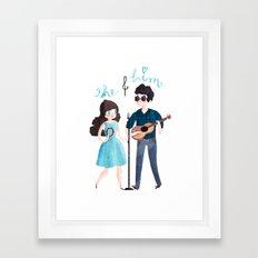 She & Him Framed Art Print