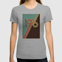 PORTAL Womens Fitted Tee Athletic Grey SMALL