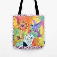 Indigo Hummingbird Tote Bag
