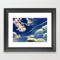 Cloudy Sky Framed Art Print