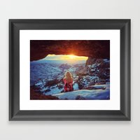 Reminiscing At Sunset Framed Art Print