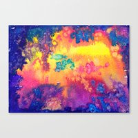 deep space - tie dye watercolor abstract Canvas Print