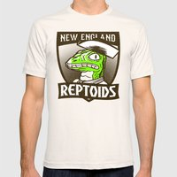 Reptoids Mens Fitted Tee Natural SMALL