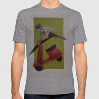 MOTO Mens Fitted Tee Athletic Grey SMALL