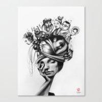 Asleep Canvas Print
