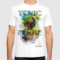 Toxic Demise Mens Fitted Tee White SMALL