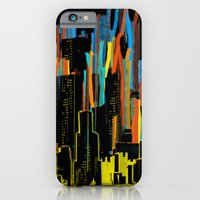 iPhone & iPod Case featuring strippy city by frederic levy-hadida