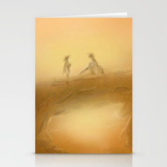 duel at dusk Stationery Card
