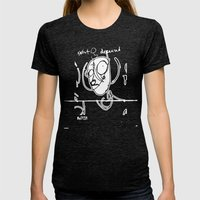 Exist and Deceased Womens Fitted Tee Tri-Black SMALL
