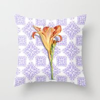 Daylily Lace Throw Pillow