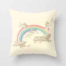 Painting The Sky Throw Pillow