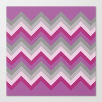 Radiant Orchid Chevron Canvas Print