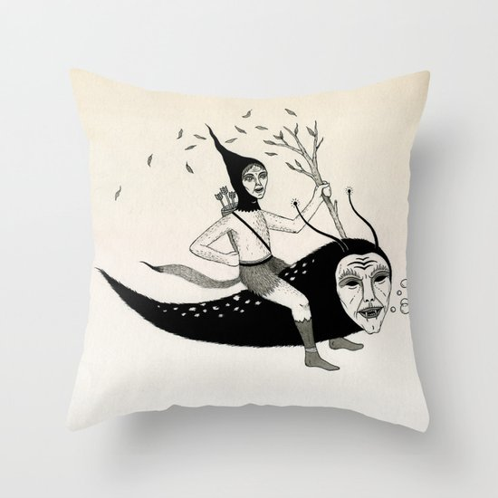 Joyous Flight Throw Pillow