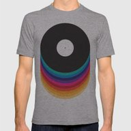 Happy Music Mens Fitted Tee Athletic Grey SMALL