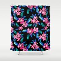 Tahitian Garden {B} Shower Curtain