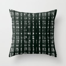Watercolor plaid pattern in black and white Throw Pillow