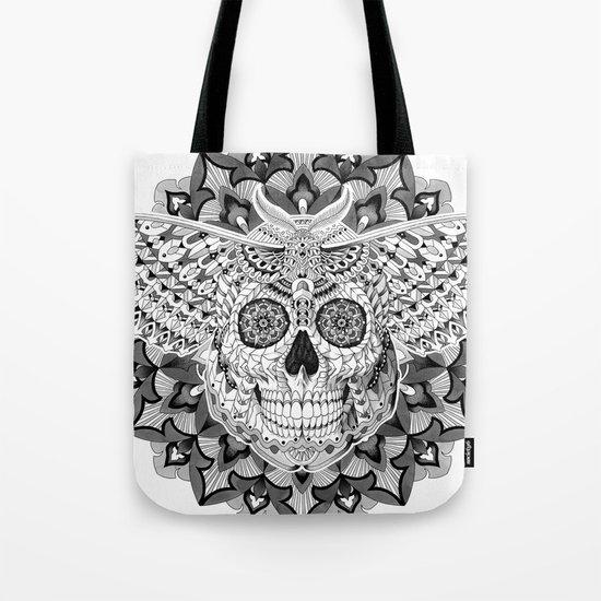 Skull Moth Tote Bag