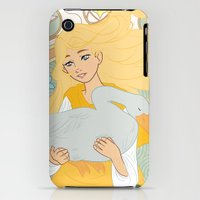 iPhone 3Gs & iPhone 3G Cases featuring Goose Girl by Una Anguila